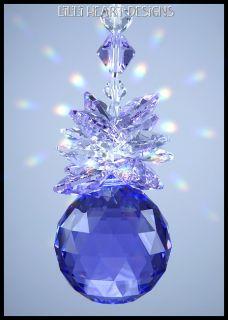 Swarovski Crystal Blue Violet Pineapple Ball Suncatcher 8558