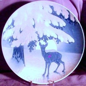 Bing Grondahl 1905 Christmas Plate B G Christmas Night Expectations
