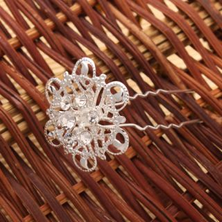12pcs Rhinestone Sunflower Jewelry Hair Pins Fashion Charming New