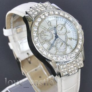 Jewel Analog Quartz Ladies Girls Wrist Band Gift Watches L11T