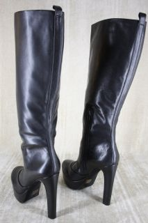 Jessica Simpson Ambery Boots Tall Black Leather Size 9 5 $197 Platform