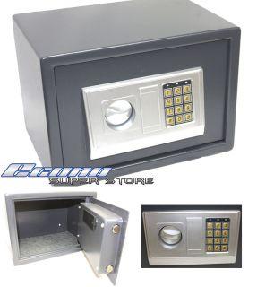 Safe Lockbox Gun Jewelry Lock Box Key or Keyless 12 x 8 x 8
