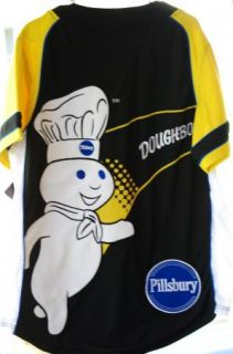 Pillsbury Doughboy General Mills GM Baseball Jersey Shirt Mens Medium