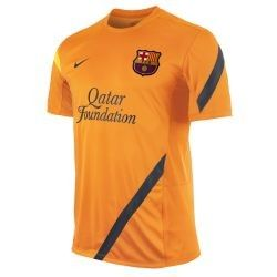 BARCELONA Official 2011 12 SOCCER TRAINING JERSEY Orange Brand New