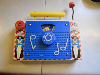 Vintage Fisher Price Jack N Jill TV radio 148 w Swiss musical movement