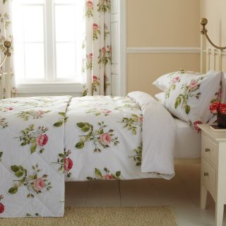 SANDERSON ♥ ENGLISH ROSE ♥ DOUBLE / KING THROW BEDSPREAD QUILT