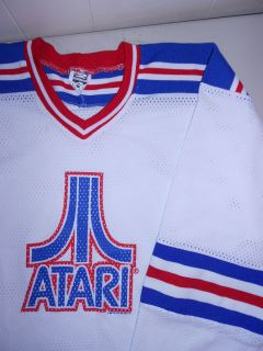 Atari Hockey Jersey Shirt NEW Arcade Video Game Mens Polyester Red