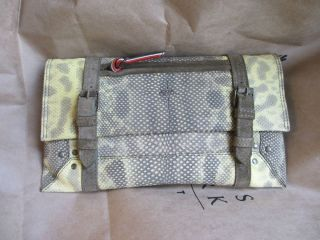 Jerome Dreyfuss Paris Designer Handbag Clutch Brown Yellow Patterned