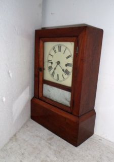 Early Jerome 8 Day Fusee Shelf Clock