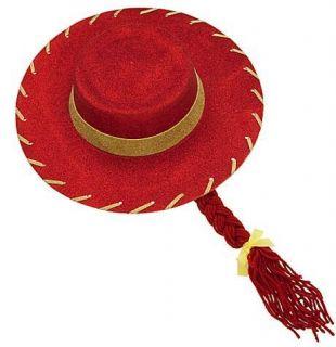 Toy Story Jessie Costume Glitter Hat and Braid  Halloween