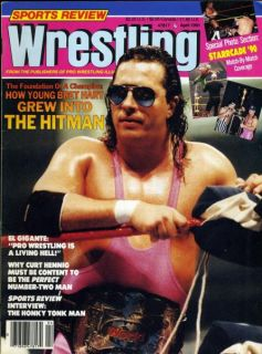 Bret Hitman Hart Sports Review Wrestling Magazine April 1991