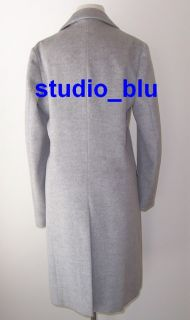 Jil Sander Grey Wool Angora Cashmere Button Coat 38 6