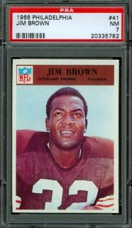 1966 Philadelphia Gum #41   Jim Brown   PSA 7    Cleveland Browns HoF
