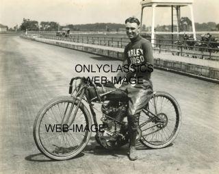 1924 Jim Davis Vintage Harley Davidson Motorcycle Racing Dirt Flat