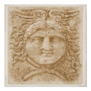 Greek God Hermes PICTURE ancient image of Hermes Print