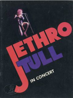 Jethro Tull 1975 War Child Tour Concert Program Programme