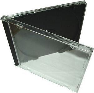 CD DVD JEWEL CASES BLACK TRAY   REGULAR SIZE   CD DVD BOX (5 FREE