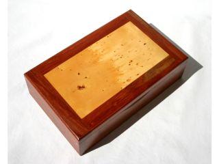 RARE Australian Huon Pine Wooden Jewelry Watch Box