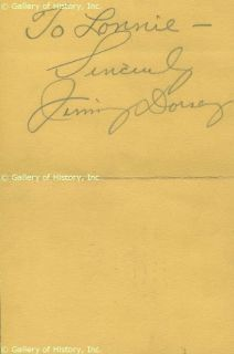 Jimmy Dorsey Autograph Note Signed