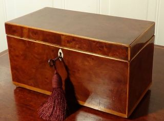 Antique Burr Elm Ladies Jewellery Box Circa 1820 Fab Condition