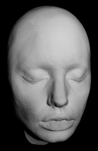 White Life Mask Face Life Cast in Light Weight White Resin