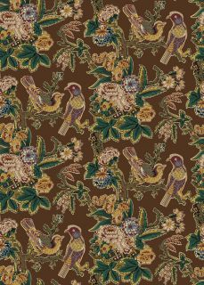 Brown Chintz Bird Tree Jo Morton Civil War Fabric Quilt