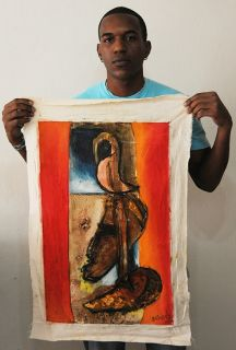 Jimnez 203 Cuban Fine Art Signed Painting Cuba