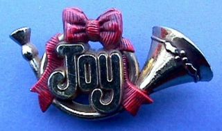 ... French Horn Costume Jewelry Christmas Holiday Lapel Pin Brooch ...