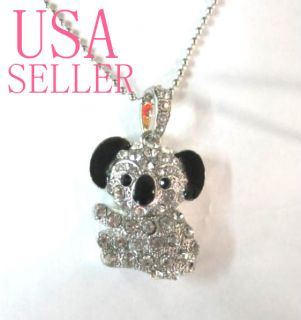 8GB Jewelry Panda Koala Crystal Pendant USB Flash Drive Memory Stick