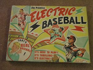Two Vintage Baseball Games 1953 Jim Prentice Electric 1969 Hasbro NBC