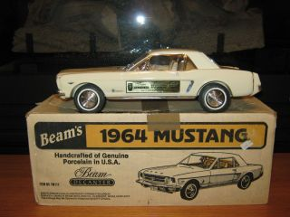 1964 White Ford Mustang Jim Beam Decanter