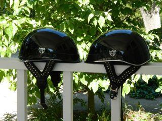 Matching set Harley Davidson Trespasser Half Helmets with studded