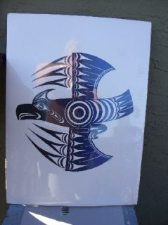 Northwest Coast Salish Edward Joe Signed Artist Proof Eagle Titled
