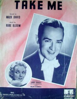 Sheet Music Take Me Jimmy Dorsey 1942 PVG