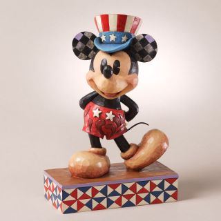 Enesco Jim Shore Disney Traditions Patriotic Star Statesman Mickey