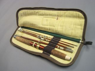Vintage True Temper Traveller Fishing Rod w Case Fly Fishing Spin