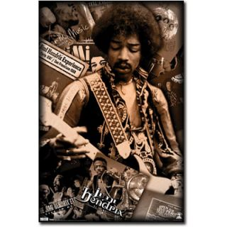 Jimi Hendrix Albums Poster Experience Woodstock Purple