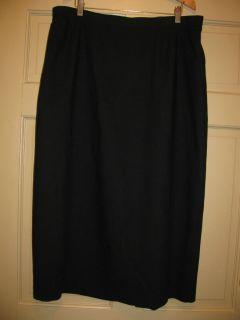 Joan Leslie Black Dress Lined Long Dress Skirt 18 20 XL