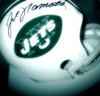 Joe Namath NY Jets Autographed Mini Helmet Signed Auth