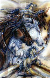 Jody Bergsma Large Horses Counted Cross Stitch Pattern