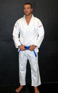 Gold Weave Brazilian Jiu Jitsu Gi White Kimono A1 A2 A3 A4 A5 A6