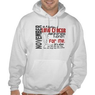 Lung Cancer Awareness Month Every Month For ME Hooded Sweatshirt