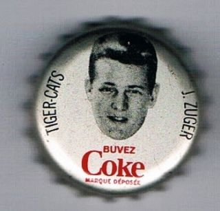 1965 Coke Caps CFL French 100 Joe Zuger