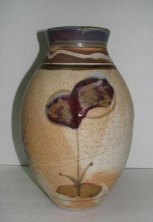 Joe Frank McKee Funcional Poery Vase Hand hrown Signed