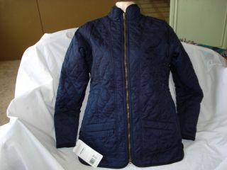 Jockey P2P Womens Reversible Quilted Jacket Blue Burgundy