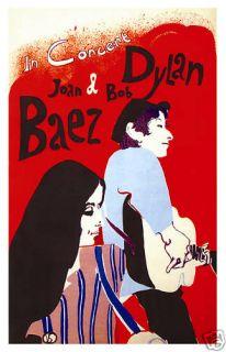 Bob Dylan Joan Baez at New York Concert Poster Circa 1965