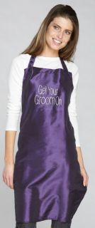 RHINESTONE STUDDED GET YOUR GROOM ON Water Hair Stain Resistant APRON