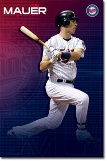 MLB Minnesota Twin Joe Mauer Poster