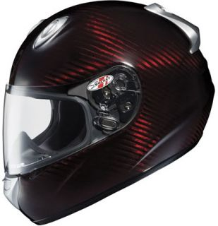Joe Rocket Carbon Fiber Helmet RKT 101 Red Transtone Size Adult Large