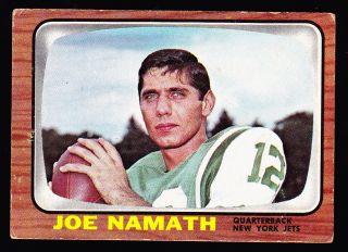 1966 Topps 96 Joe Namath Jets